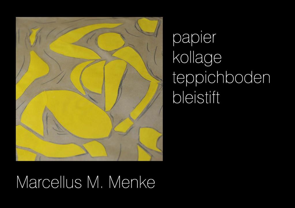 """""""Die Mondtänzerin 1.2"""", Papier, Scherenschnitt auf Bütte aufgeklebt mit Bleistift ergänzt. Köln, Mai 2012. Von der Seite aufgenommen."""