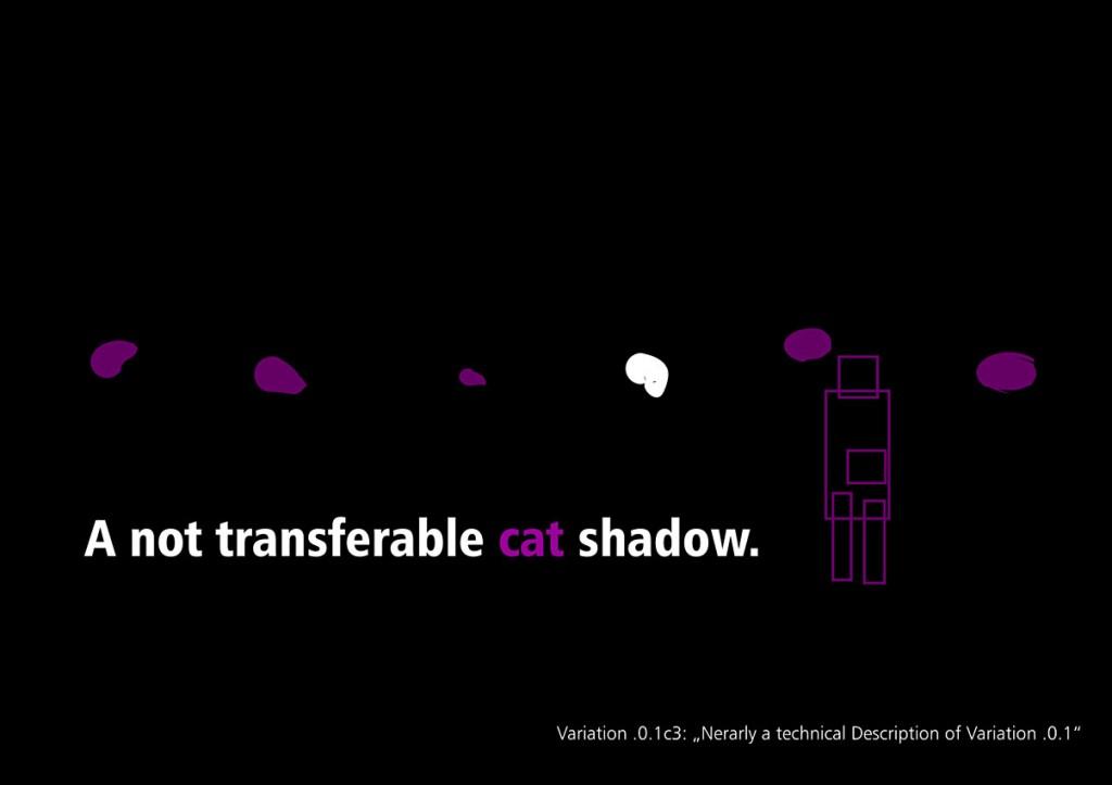 Picasso und der nicht übertragbare Schatten der Katze Seite 3 aus: Marcellus M. Menke, MeandMeandMe, Some circumspective Picasso Variations, ScreenBOOK, Cologne Edition 2012