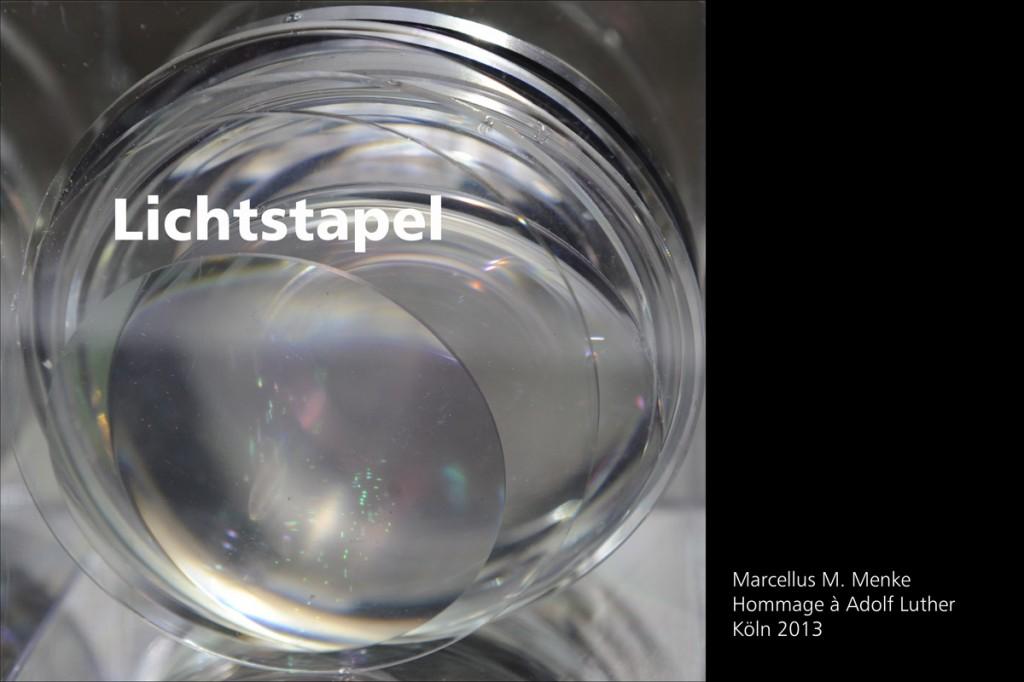 Marcellus M. Menke: Lichtstapel. Elf Variationen eines Themas. Variation 8. Ausbelichtete Digitalphotographien, 20 x 30, signiert und nummeriert, Köln 2013