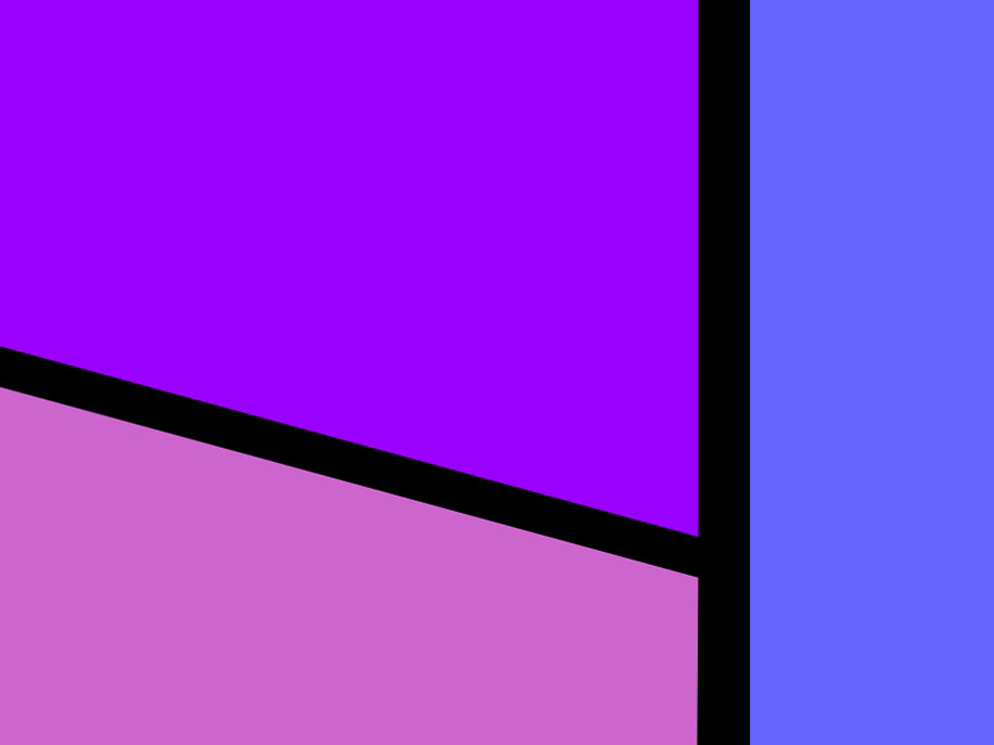 Detail Nr. 5 aus: Marcellus M. Menke: Blue Tower I, digitally created image, Siegen 2012, Hommage à: Roy Lichtenstein: Read barn I, 1969