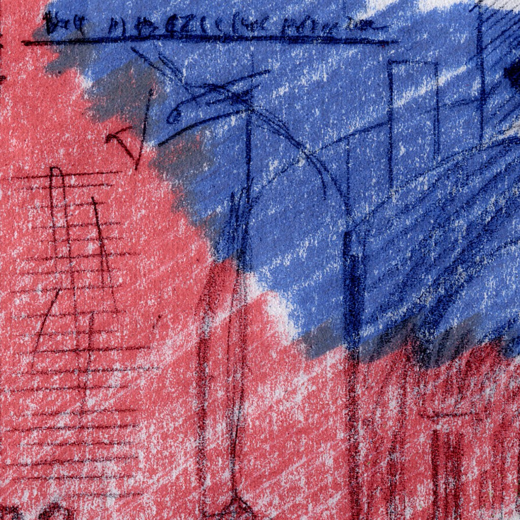 Ausschnitt Nr. 1 aus: Marcellus M. Menke: 72 Zehn-Euro-Scheine, nicht immer vollständig wiedergegeben, gescannte Zeichnung und digitale Montage, Köln 2012. Hommage à: Andy Warhol, 80 Zweidollarscheine (Vorder- und Rückseite), 1962
