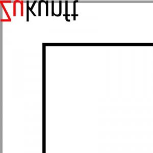 Ausschnitt Nr. 3 aus: Marcellus M. Menke: Digital Squares, Studie 001_b_v. Digital erzeugte Quadrate und Schrift. Vektorgrafik im PDF-Format. Köln 2013