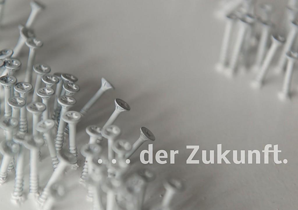 """Marcellus M. Menke. Die Antwort des Akkuschraubers auf Günther Uecker: """"Zukunft"""". Seite 4 des ScreenBOOKs """"Zwölf Seiten für die neue Interpretation eines alten Themas."""" Köln 2013"""