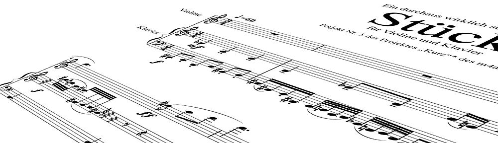 Ein durchaus wirklch kurzes Stück für Violine und Klavier
