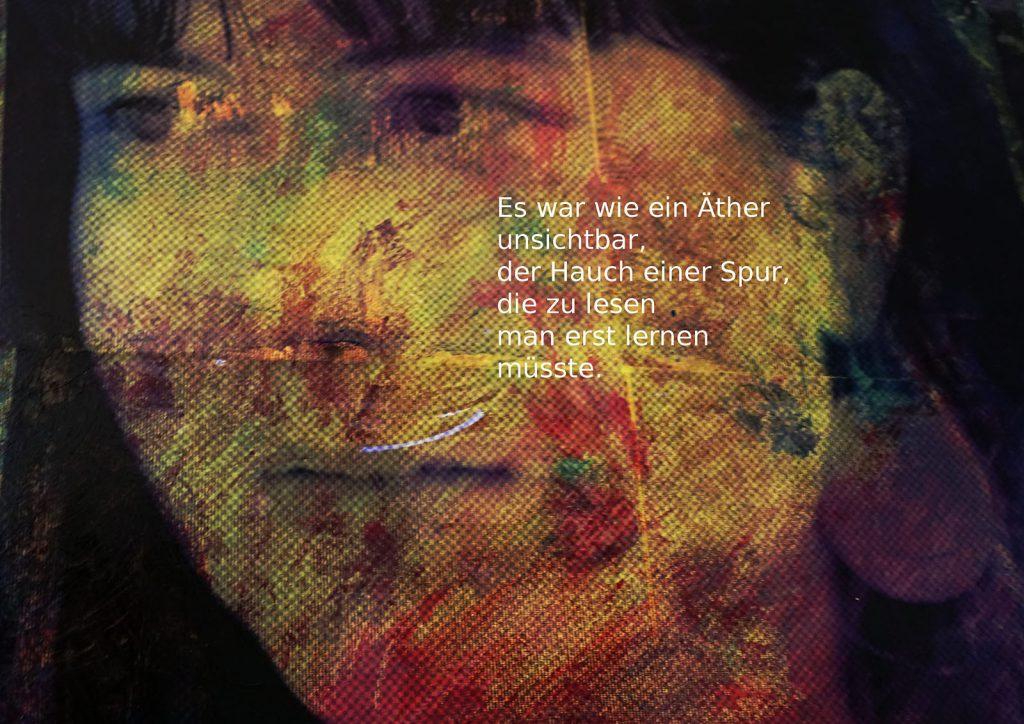 Marcellus M. Menke: Betrayed Generation. Rasterfolie und Acryl auf Leinwand, Photographie mit gesetztem Text. m4art screenBook, Köln und Siegen 2016, Seite 5