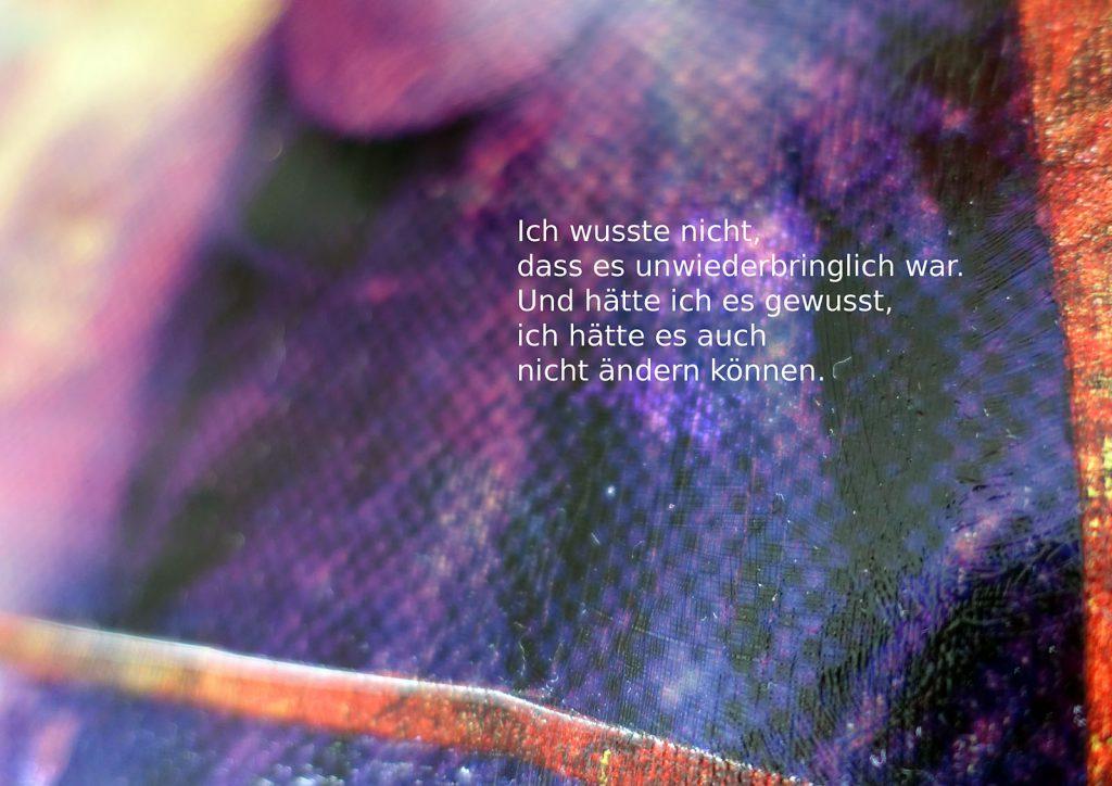 Marcellus M. Menke: Betrayed Generation. Rasterfolie und Acryl auf Leinwand, Photographie mit gesetztem Text. m4art screenBook, Köln und Siegen 2016, Seite 7