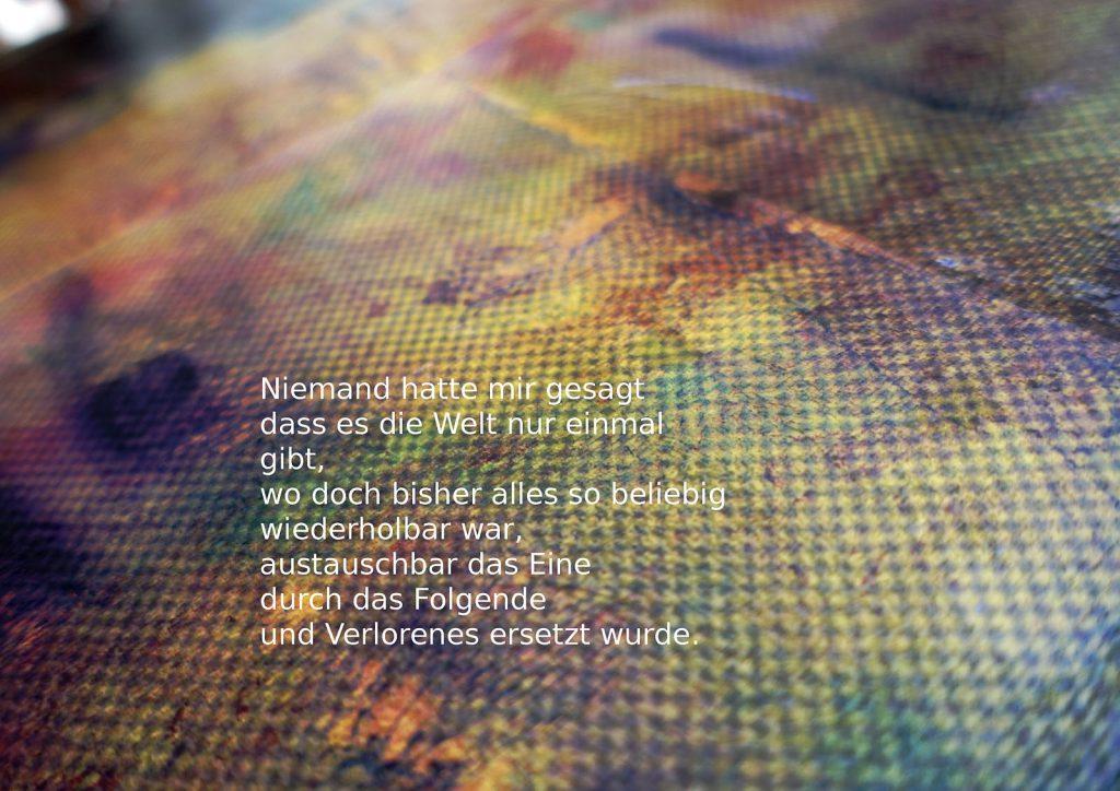 Marcellus M. Menke: Betrayed Generation. Rasterfolie und Acryl auf Leinwand, Photographie mit gesetztem Text. m4art screenBook, Köln und Siegen 2016, Seite 8
