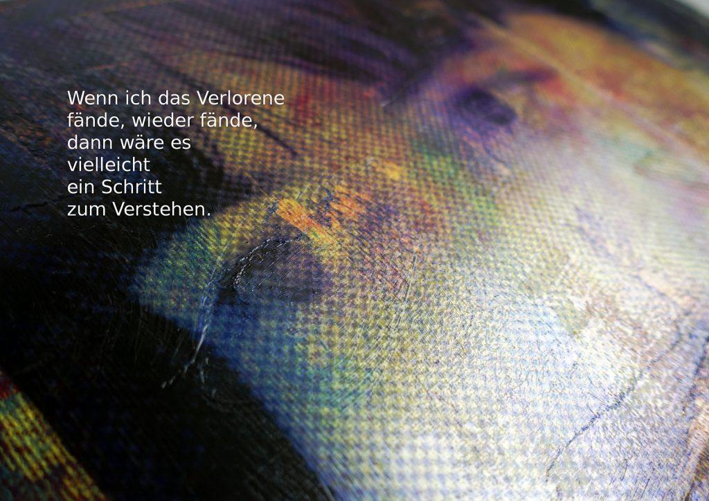 Marcellus M. Menke: Betrayed Generation. Rasterfolie und Acryl auf Leinwand, Photographie mit gesetztem Text. m4art screenBook, Köln und Siegen 2016, Seite 9