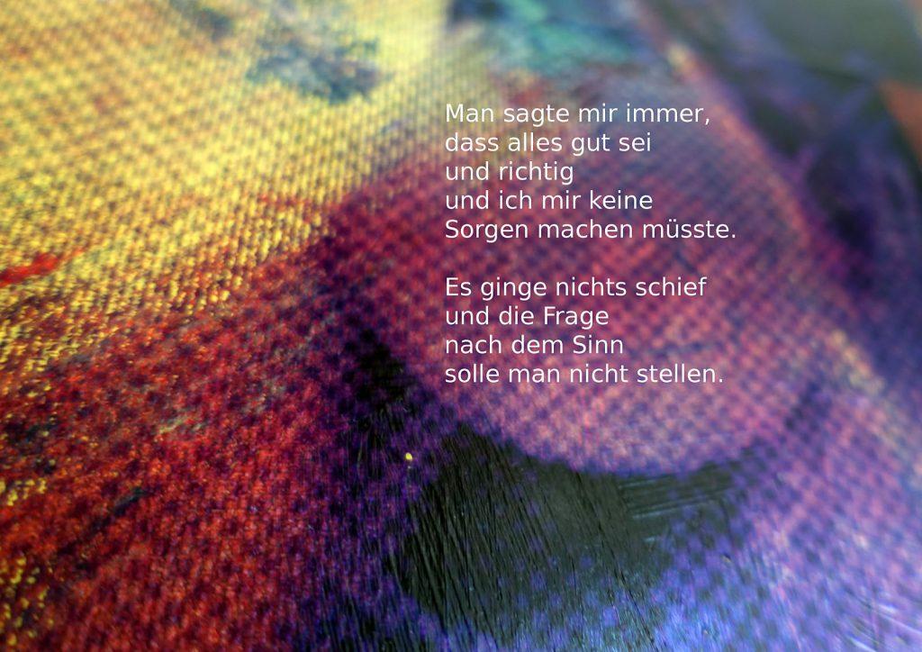 Marcellus M. Menke: Betrayed Generation. Rasterfolie und Acryl auf Leinwand, Photographie mit gesetztem Text. m4art screenBook, Köln und Siegen 2016, Seite 11