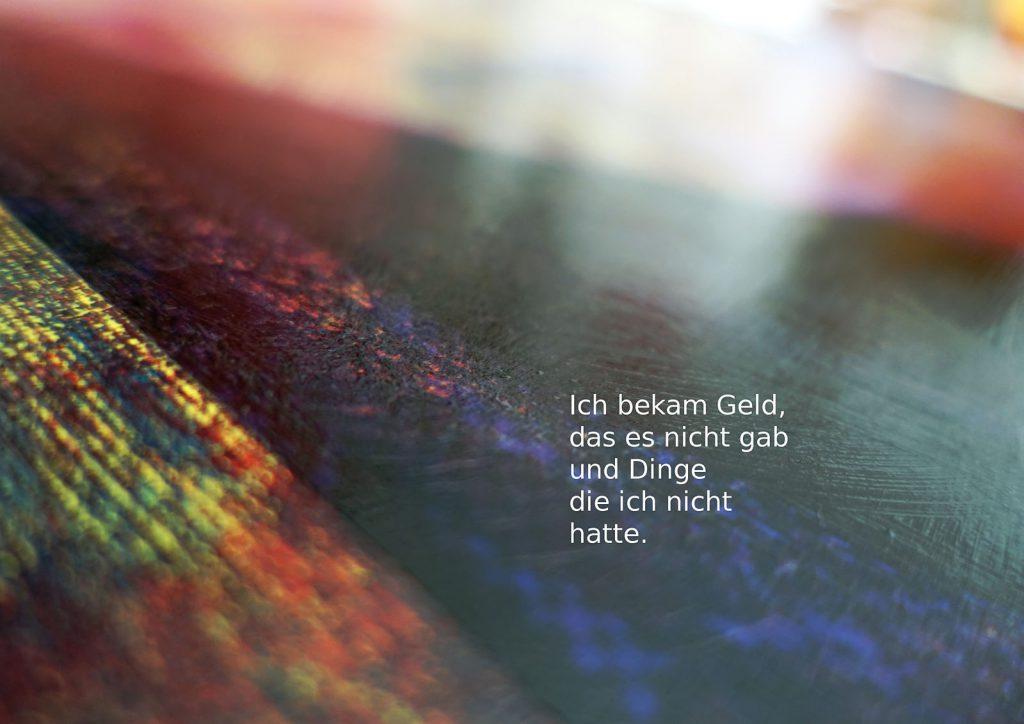Marcellus M. Menke: Betrayed Generation. Rasterfolie und Acryl auf Leinwand, Photographie mit gesetztem Text. m4art screenBook, Köln und Siegen 2016, Seite 14