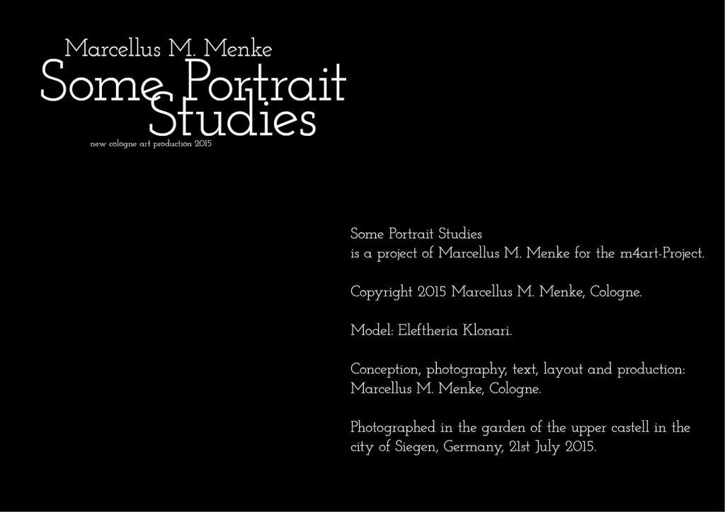 Marcellus M. Menke: Some Portrait Studies. m4art screenBook, Köln und Siegen 2015, Seite 14